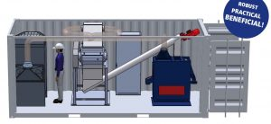 Cable recycling plant
